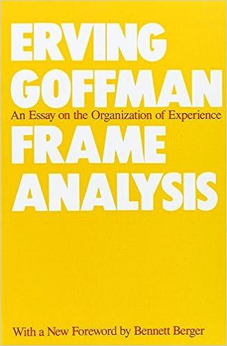 Goffmanian analysis essay