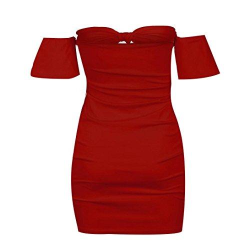 Lace XL Sexy Off Dress Women Kolylong Party Sleeveless design Shoulder White Red Evening Mini Dress z7qnx4Iwgn