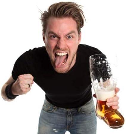 OOTB XXL de vidrio de cerveza botas, para aprox. 2litros, cristal, transparente, 23.4x 17.4x 37.5cm
