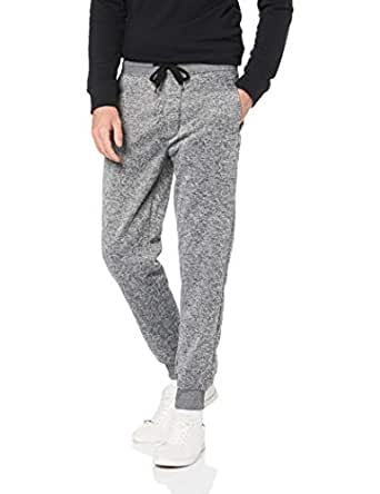 SOUTHPOLE Men's Basic Marled Fleece Jogger Pants, Grey, X-Small
