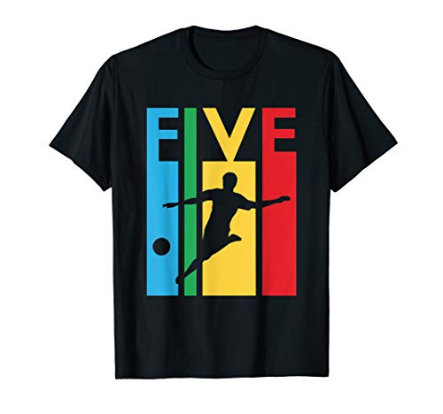 5th Birthday Gift Five Colorful Soccer Birthday 5 Year Old T-Shirt