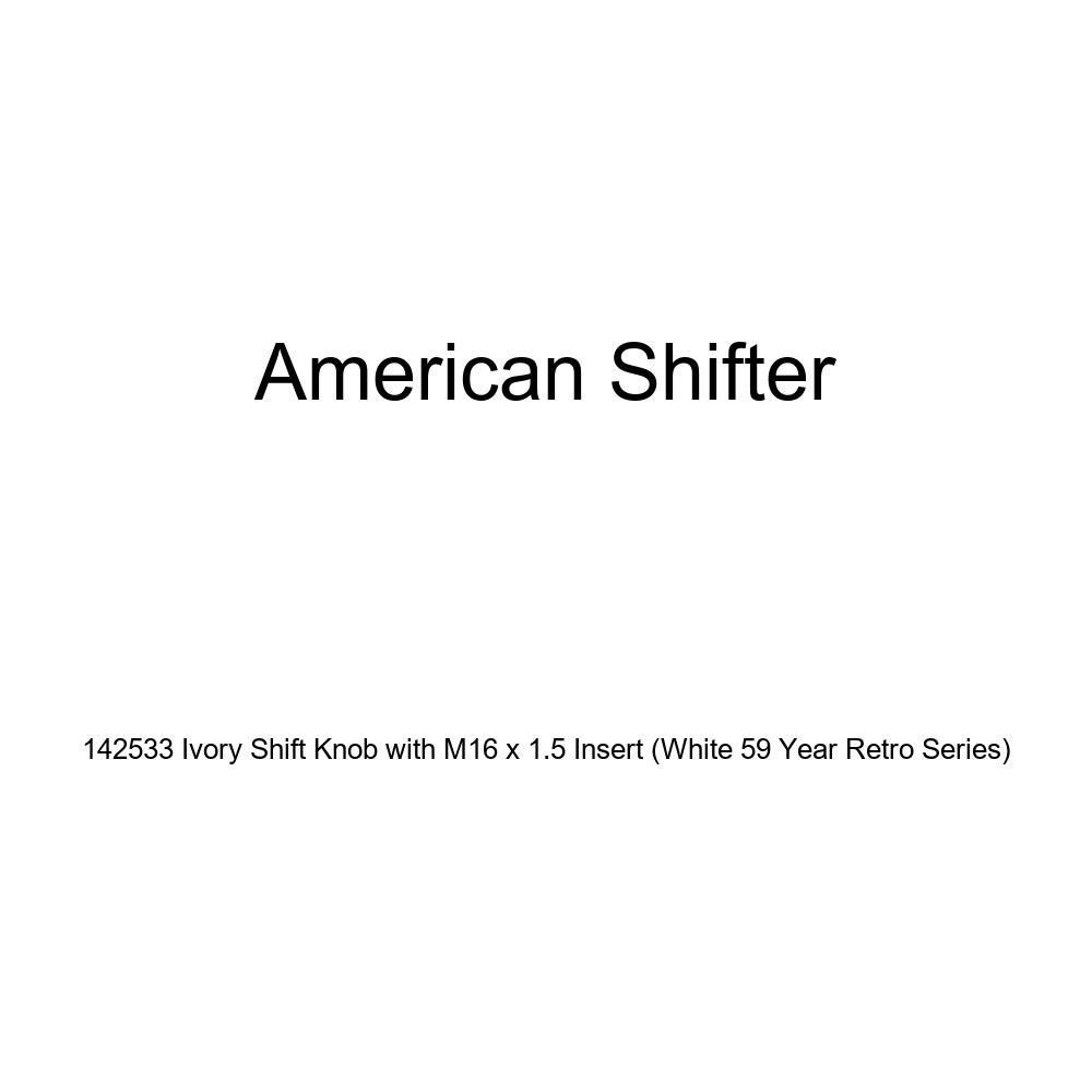 American Shifter 142533 Ivory Shift Knob with M16 x 1.5 Insert White 59 Year Retro Series