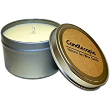 Candlecopia Vanilla Coconut Strongly Scented Sustainable Vegan Natural Soy Travel Tin Candle