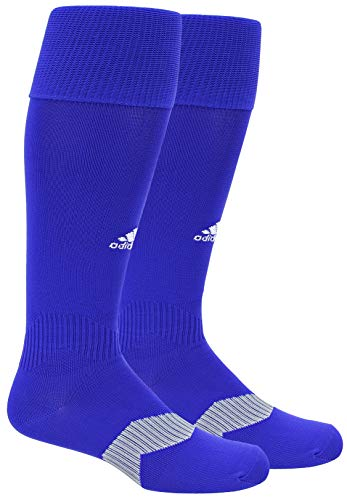 adidas Unisex Metro IV OTC Soccer Sock (1-Pair), Bold Blue/White/Clear Grey, 5-8.5