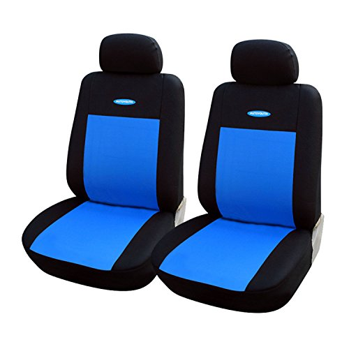 Universal 2pcs Blue Car Seat Covers Fit Polyester 3MM Composite Sponge Car Styling Lada Car Covers - San Outlet Antonio Mall