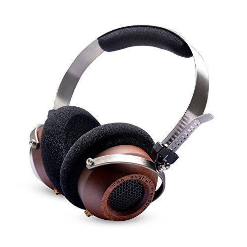 OKCSC M1 DIY Open Voice Stereo Super Bass Wooden Big Headphones Retro-Vintage Style Active Noise Cancelling Earphone with a Bag as Gift