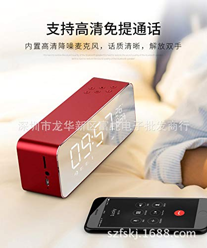 xingganglengyin Alarm Clock Speaker Audio Wireless Bluetooth subwoofer New Creative Bedside Mirror by xingganglengyin (Image #5)