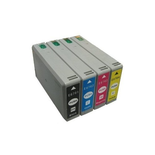 Virtual Outlet ® 4 Pack Remanufactured Inkjet Cartridge for Epson T676XL 676XL T676 T676XL1 T676XL2 T676XL3 T676XL4 Works with Epson WorkForce Pro WP-4010, WorkForce Pro WP-4020, WorkForce Pro WP-4023, WorkForce Pro WP-4090, WorkForce Pro WP-4520, WorkFo