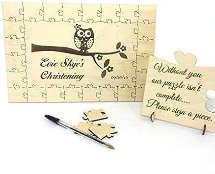 Personnalisé en bois Mariage Livre d/'or Jigsaw Puzzle Souvenir Anniversaire Cadeau