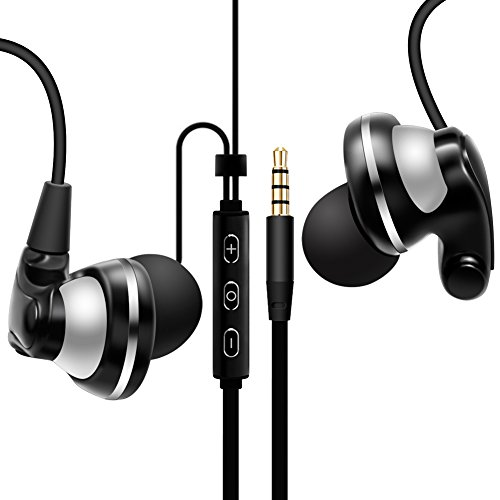 TKKOK Earphones Headphones In-Ear Earbuds with Microphone, Powerful Bass Driven Sound, Ergonomic Design for iPhone, iPad, iPod, Android Smartphone, Tablet, MP3 Player and many more