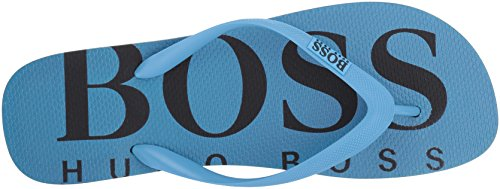 Boss Green Van Hugo Boss Mens Wave Thong Sandaal Met Flip-flop Pastelblauw