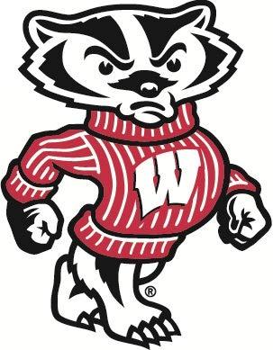 amazon com 5 inch bucky badger decal uw university of wisconsin rh amazon com wisconsin badgers logo vector wisconsin badgers logo download