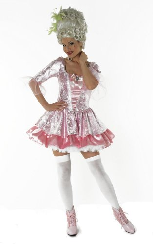 Marie Antoinette Queen Pink Female Fancy Dress Costume - Small (US 6-8)