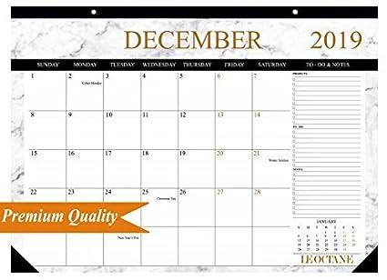 Amazon Com 2019 Planner 2019 Wall Calendar Desk Calendar Premium