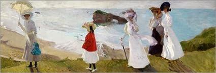 Posterlounge Cuadro de PVC 90 x 30 cm: Lighthouse Walk at Biarritz de Joaquín Sorolla y Bastida