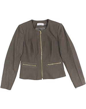 Calvin Klein Women's Peplum Front Zip Jacket