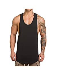 Magiftbox Men's Muscle Gym Workout Stringer Tank Tops Bodybuilding Fitness T-Shirts