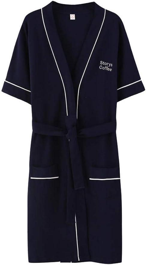Lutratocro Women Housecoat Short Sleeve Pocket Nightwear Belted Kimono Bathrobe