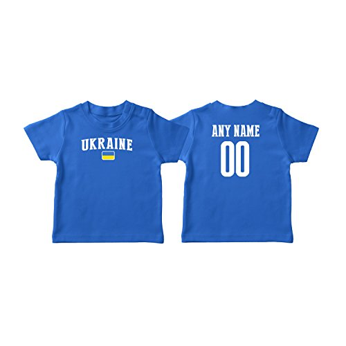 (nobrand Ukraine T-Shirt Kids Infant Country Flag Tee Personalized World Cup Pride (Blue T-Shirt 2T))