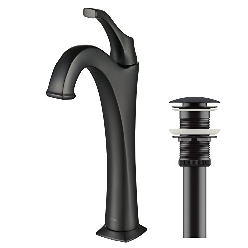Kraus KVF-1200MB Arlo Bathroom Faucet Matte Black