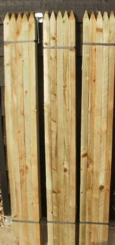 20 x 1.35m (4.75ft) tall square garden tree stakes - HC4 pressure treated