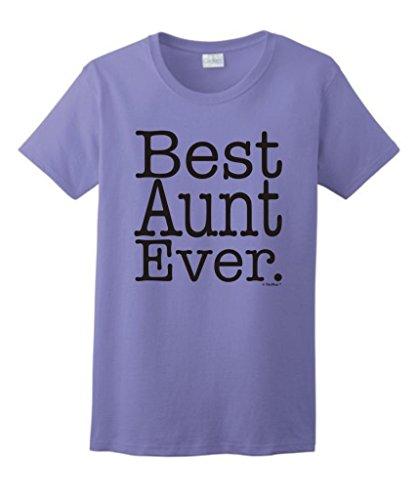 for Aunt Best Aunt Ever Ladies T-Shirt Small Violet