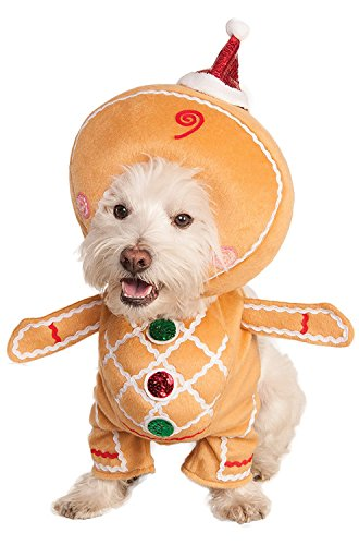 Pictures of Rubie's Walking Gingerbread Man Pet Costume 580527 Medium 1