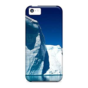 New Style Tpu 5c Protective Case Cover/ Iphone Case - Icebergs Glaciers