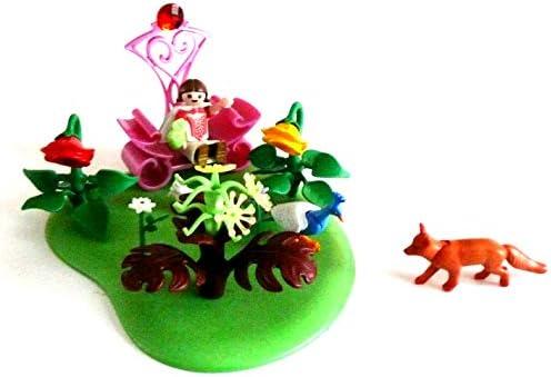 Playmobil - Jardín de elfos con zorro pavo real y flores y trono: Amazon.es: Bebé