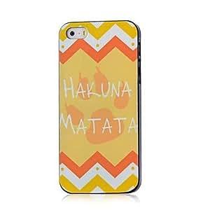 ZMY caso duro del patrón de hakuna matata para el iphone 4 / 4s