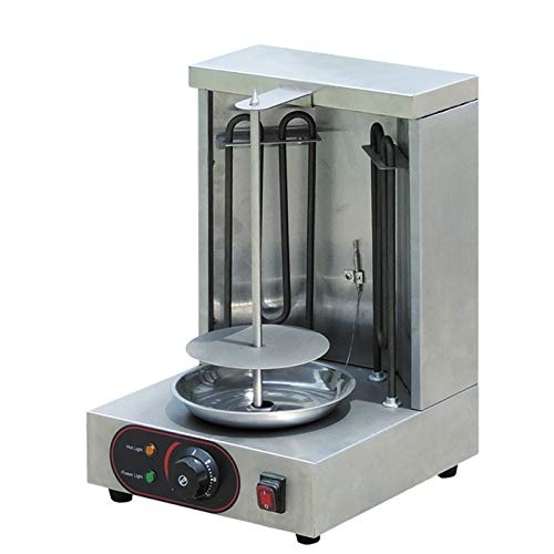 Mini Doner Kebab Grill Electric Vertical Broiler Stainless Steel Gyro Shawarma Machine 1 Burner