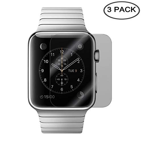 [3 Pack] EVERMARKET Premium Privacy Anti-spy Full Coverage TPU Soft Screen Protector Film for Apple Watch 42mm Series 1, Series 2, Series 3