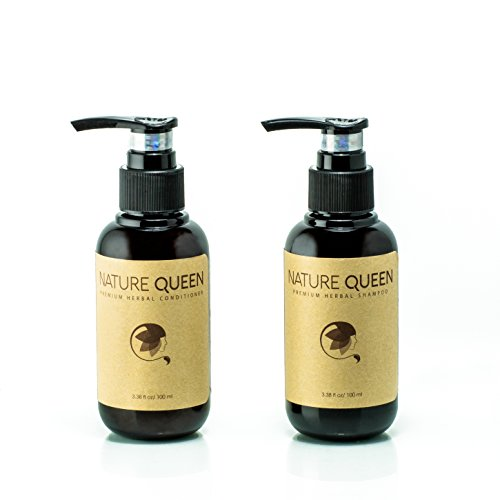 Nature Queen herbal shampoo and conditioner set (repair + volumize) (3.4oz) from Nature Queen