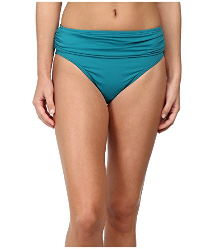 Tommy Bahama Women's Pearl Solids High Waist Sash Pant Azurite Swimsuit Bottoms SM (US 6-8)