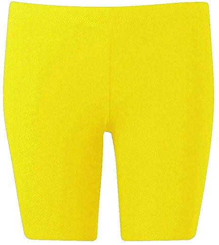 Casa de Moda Algodón Rodilla Longitud activa desgaste ciclismo gimnasio pantalones cortos–varios colores amarillo