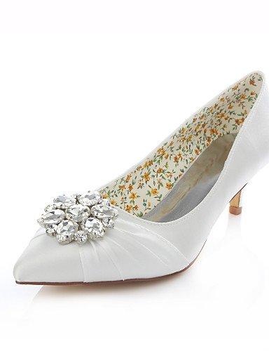 GGX/Damen Schuhe Stretch Satin Stiletto Heel Heels/spitz Toe Heels Hochzeit/Kleid Schwarz/Pink/Elfenbein/Champagner