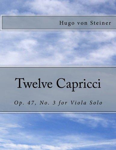 Twelve Capricci: Op. 47, No. 3 for Viola Solo PDF