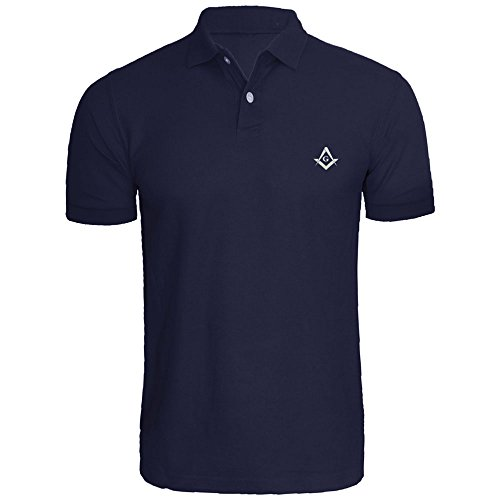 Mens Masonic Symbol Embroidered Polo Shirts Men Shirts - Masonic Golf T-shirt