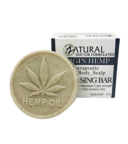 Hemp Bar Soap, 100% Natural Ingredients, Heal, Moisturize, and Cleanse. (1 Bar)