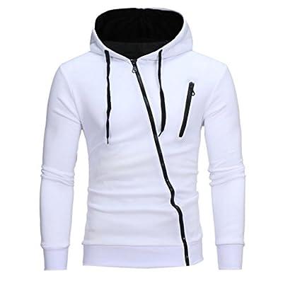 HTHJSCO Men's Eco Zip Hoodie Sweatshirt, Mens' Long Sleeve Hoodie Hooded Sweatshirt Tops Jacket Coat Outwear
