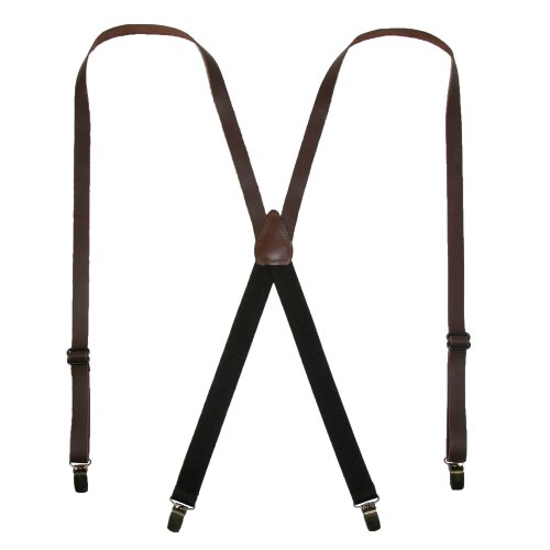 CTM Leather Clip End Inch Suspenders product image