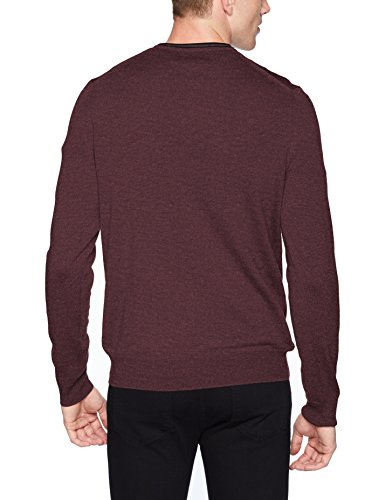 Pull Rond Fred Perry Noir Col Acajou wpnqYHxq