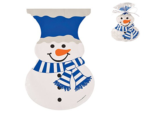 Shaped Snowman (Snowman-Shaped Cellophane Bags - Great For office, School and Home Party Favors)