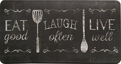 "Oversized 20"" x 39"" Anti-Fatigue Floor Mats (Eat Laugh Live)"