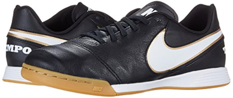 Nike Unisex Kids' Tiempo Legend VI IC Jr Football Training Shoes, Black - Schwarz (Schwarz/Weiß/Gold), 1 UK