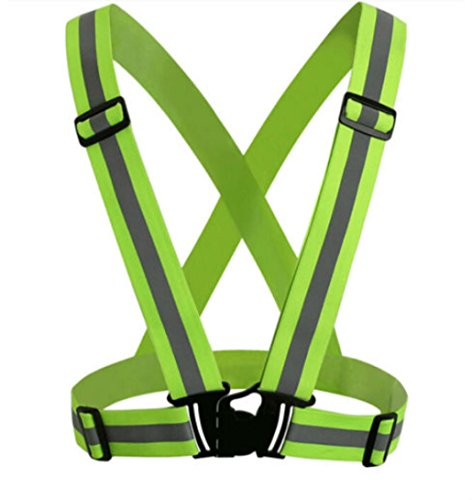 High Visibility Reflective Adjustable Safety Security Vest Jacket Night Running from Unknown