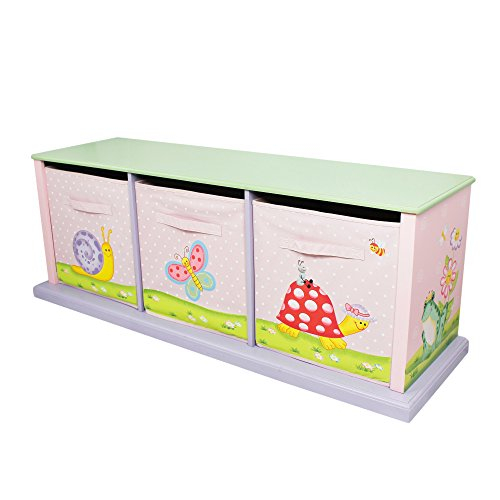 Garden Drawer - Fantasy Fields - Magic Garden Thematic 3 Drawer Cubby | Imagination Inspiring Hand Crafted & Hand Painted Details | Non-Toxic, Lead Free Water-based Paint