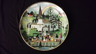 Art Collector Plate Collection - 1992 The American Folk Art Collection Rainbow Wedding Collector Edition Plate