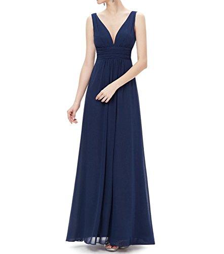 Blues Clues Dress Up Day (Tayla Shaw V Neck Elegant Long Prom Dresses NEW Navy Blue 8)