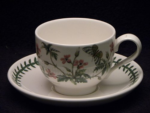 Saucer Cup Herb (Portmeirion Botanic Garden Cup & Saucer Traditional Herb Robert)